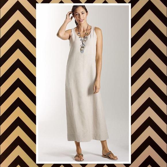 88d76aa3888 J. Jill Long Black Linen Tank Dress